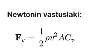 newtonin vastuslaki