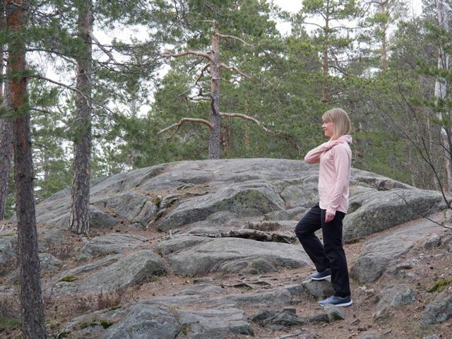Kuva, jossa kalliota ja mantymetsaa.
