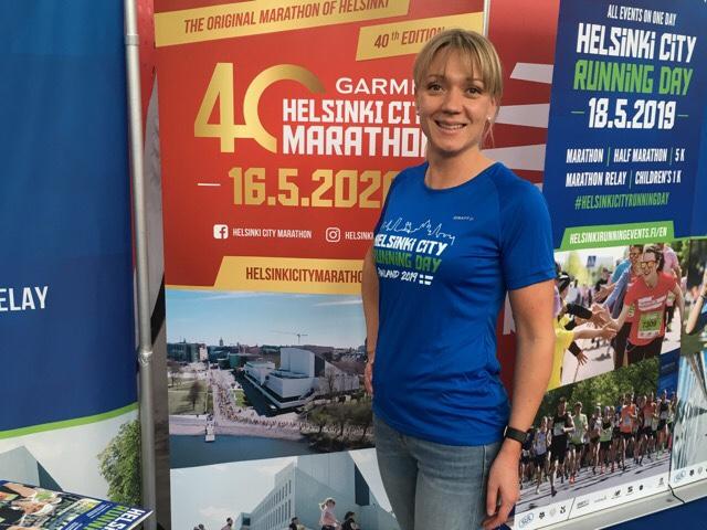 Kuva, jossa Helsinki City Running Day paita.