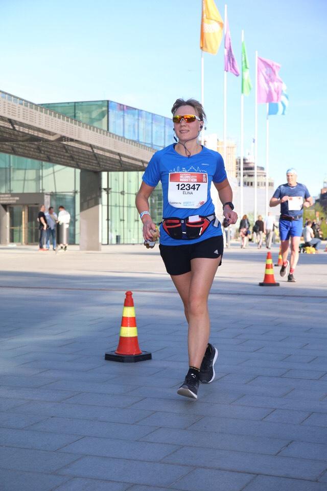 Kuva, jossa maratonista juostu 40 km.