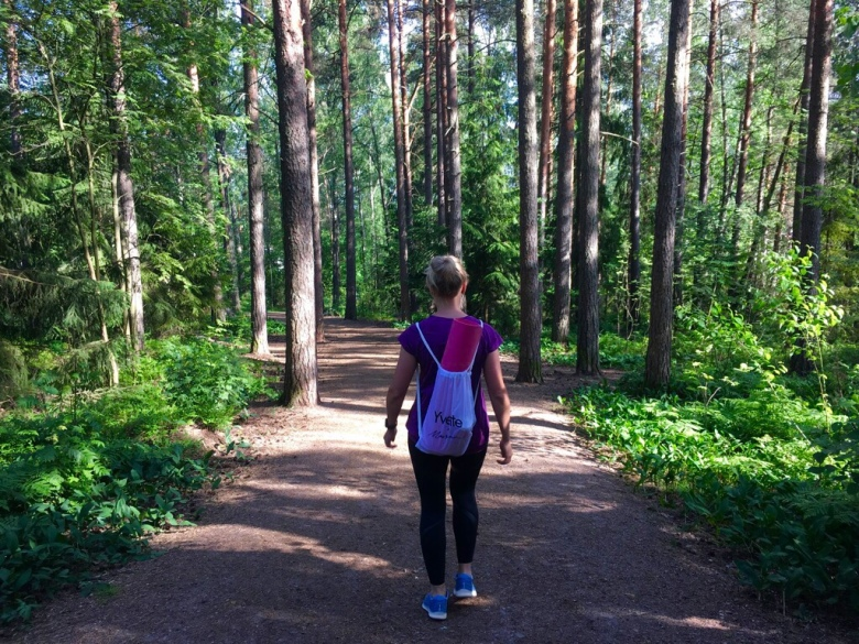 Kuva, jossa metsainen polku.