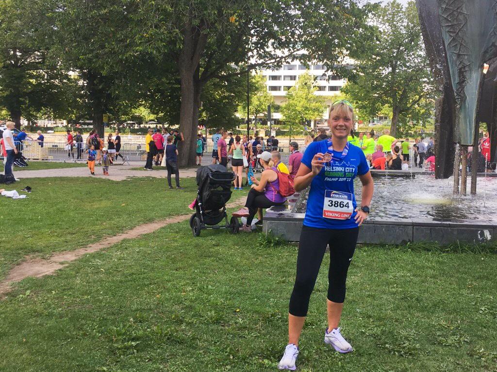 Kuva, jossa Paavo Nurmi Marathonin osallistujamitali