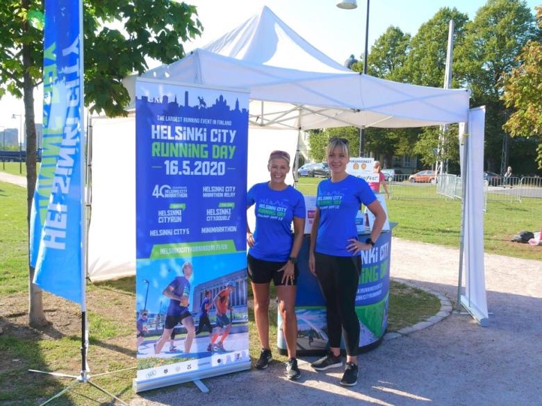 Kuva, jossa Helsinki City Running Dayn mainos