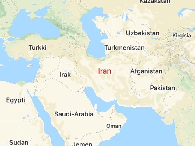 Iranin naapurivaltiot kartalla