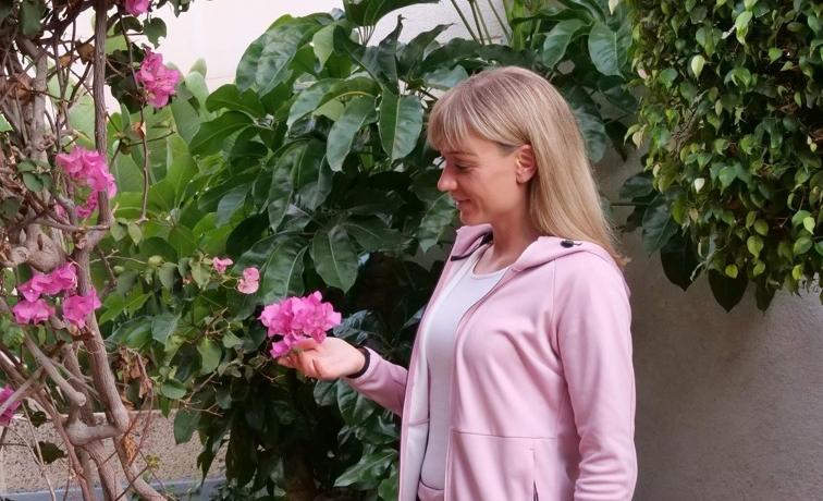 vaaleanpunainen kukka teneriffalla pink flower