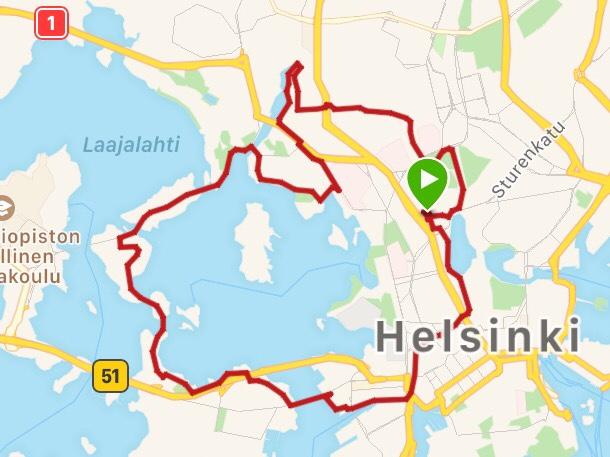 HCR reitti puolimaraton