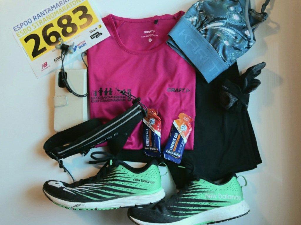 oikeat varusteet puolimaratonille