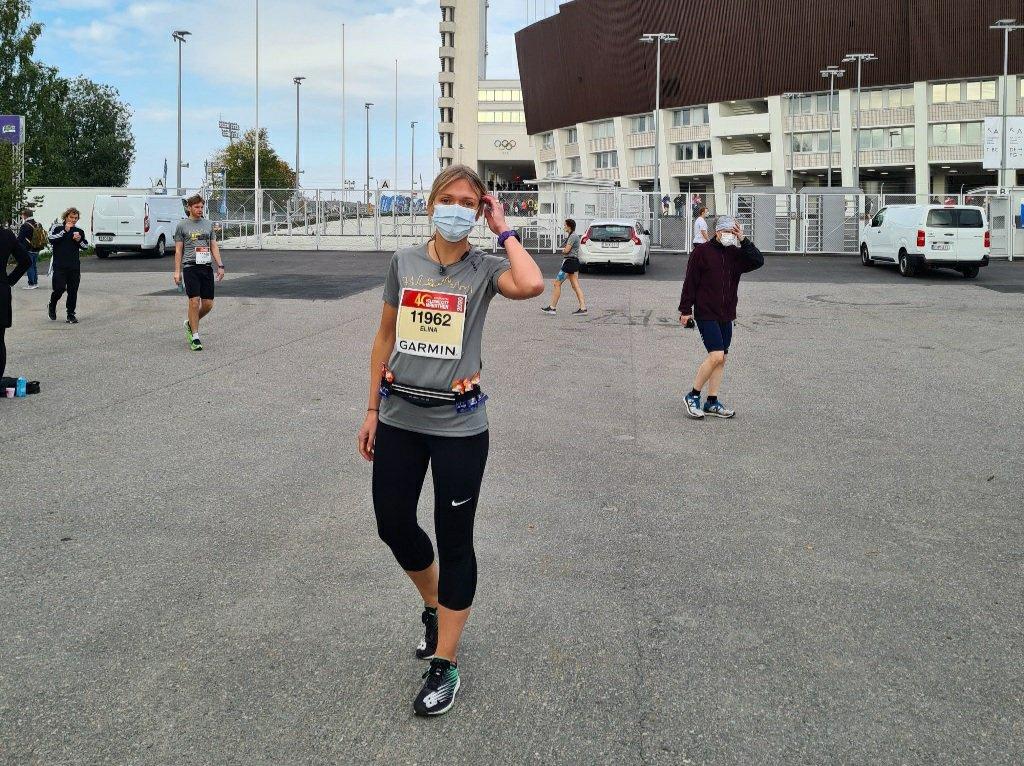 juoksija lahdossa maratonille