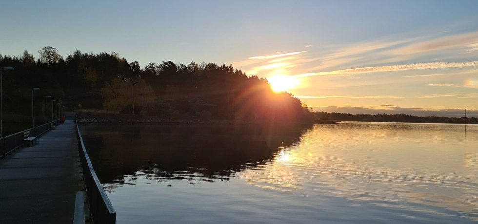 auringonnousu merella