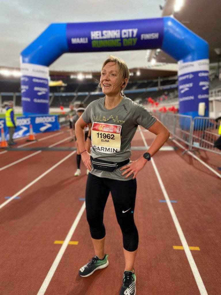 maratonjuoksija maalissa