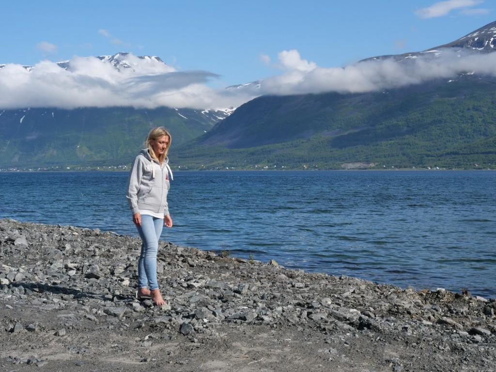 kuva, jossa vuono ja vuoria norjassa