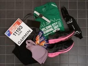 varusteet maratonia varten